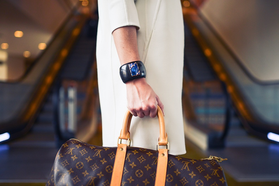 Louis Vuitton Hand luggage at the airport