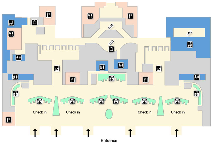 London heathrow terminal 5 maps heathrow airport guide terminal 5 check in second floor sciox Choice Image