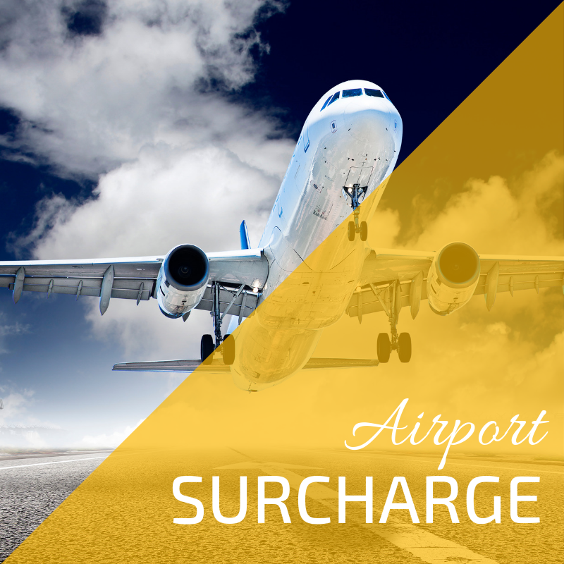 Let's explain the airport surcharge