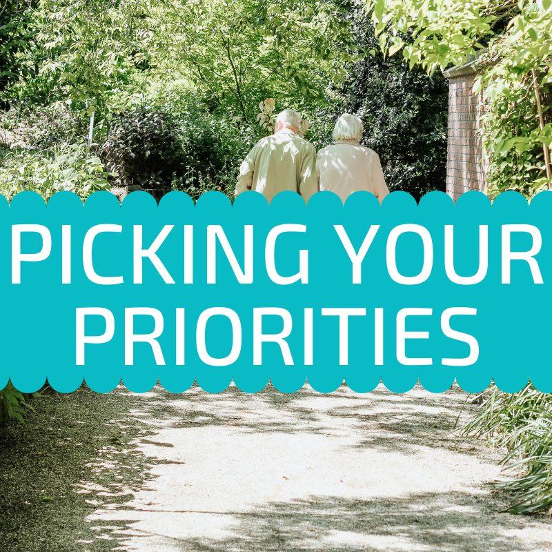 picking your priorities
